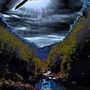 Twilight Canyon Eclipse Art Print