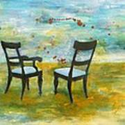 Twilight - Chairs Art Print by Deborah Allison