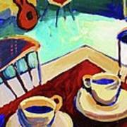 Twilight Coffee Cafe Art Print