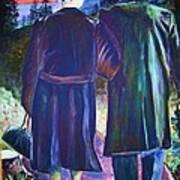 Twilight Couple Art Print by Linda Vaughon