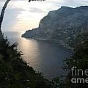 Twilight Glow In Capri Art Print