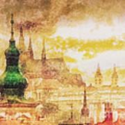 Twilight In Praha Art Print