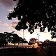 Twilight In Santos Beach Park Art Print
