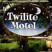Twilight Motel Art Print