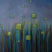 Twilight N Fireflies Art Print