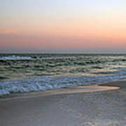 Twilight Ocean Beach Art Print