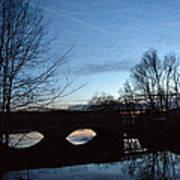 Twilight On The Potomac River Art Print