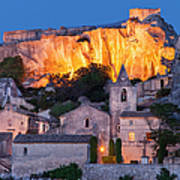 Twilight Over Les Baux Art Print