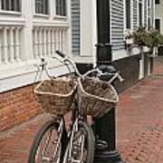 Twin Bicycles Art Print