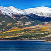 Twin Lakes Colorado Autumn Panorama Art Print