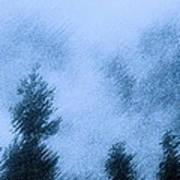 Twin Lakes Rain Art Print