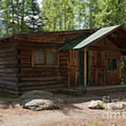 Twin No. 2 Cabin At The Holzwarth Historic Site Art Print