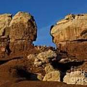Twin Rocks Capitol Reef National Park Utah Art Print
