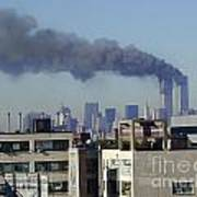Twin Towers Burning Art Print