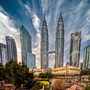 Twin Towers Kl Art Print by Adrian Evans