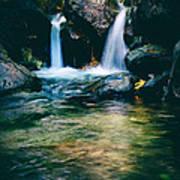 Twin Waterfall Art Print