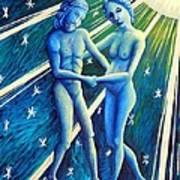 Twins Gemini Art Print
