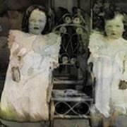 Twins Julia And Jim Cannon Circa 1903 Art Print