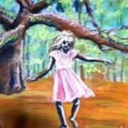 Twirl Under The Oaks Art Print