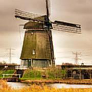Twiske Windmill Art Print