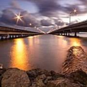 Two Bridges #1 Art Print
