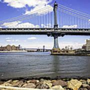 Two Bridges View - Manhattan Art Print