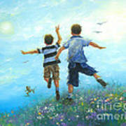 Two Brothers Leaping Art Print