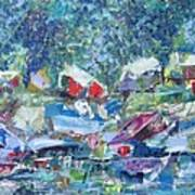 Two Canoes - SOLD Art Print