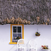 Two Chairs Outside A Cottage, County Art Print