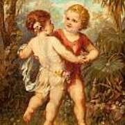 Two Cherubs Art Print