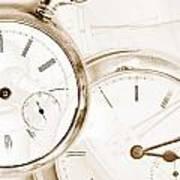 Two Clocks Art Print