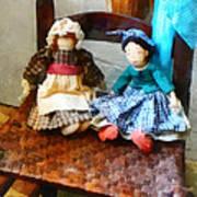 Two Colonial Rag Dolls Art Print