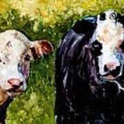 Two Cows Art Print