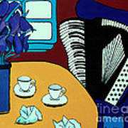 Two Cups One Accordian Art Print