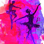 Two Dancing Ballerinas 3 Art Print