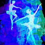 Two Dancing Ballerinas  Art Print