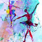 Two Dancing Ballerinas Watercolor 2 Art Print