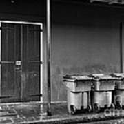 Two Doors And Three Cans Mono Art Print