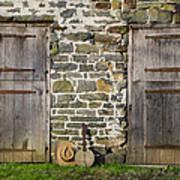 Two Doors On A Barn Art Print