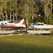 Two Float Planes On Moosehead Lake Near Greenville Maine  Art Print