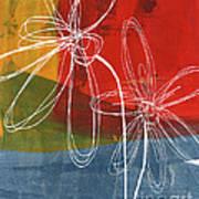 Two Flowers Print by Linda Woods