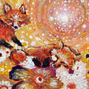 Two Foxes You Have A Friend In Me Art Print