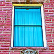 Two Gargoyle-like Figures Above And Below Window Of Moore Block In Pipestone-minnesota Art Print