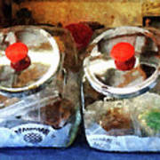 Two Glass Cookie Jars Art Print