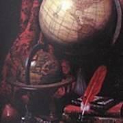 Two Globes Art Print
