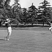 Two Golfers Body English Art Print