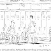 Two Guys Talk About Girls In The Locker Room Art Print