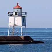 Two Harbors Breakwater Lighthouse Art Print