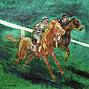 Two Horse Race Art Print