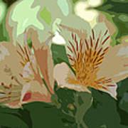 Two Lilies Cutout Art Print